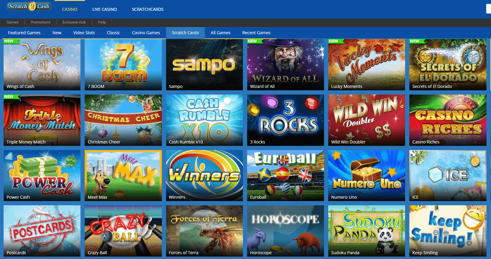 Online casino Scratch Card games to play in NZ