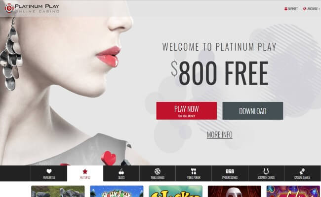 Platinum Play Casino Mobile