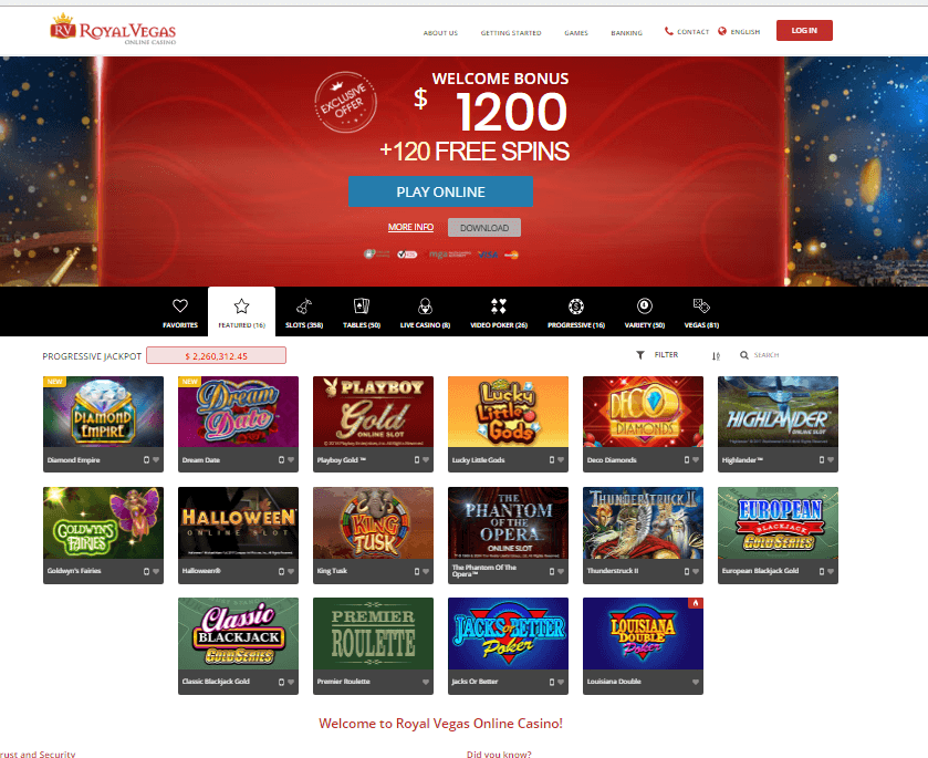 Royal Vegas Casino NZD