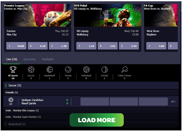 Spin sports betting